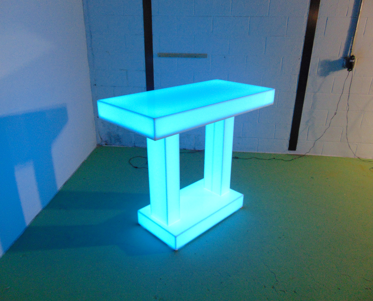 Twin Column Light Up LED Table 48x24